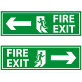 Fire exit. Direction symbol for escape from building was burnt Royalty Free Stock Image