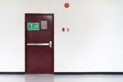 fire exit door Royalty Free Stock Photos
