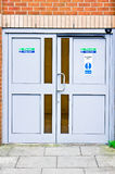 Fire exit doors Royalty Free Stock Images