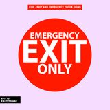 Fire exit and emergency sign in  syle version, easy to use and print. Sign and symbol for office and factory worker, attention the rule Stock Photography