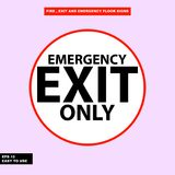 Fire exit and emergency sign in  syle version, easy to use and print. Sign and symbol for office and factory worker, attention the rule Royalty Free Stock Photography