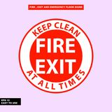 Fire exit and emergency sign in  syle version, easy to use and print. Sign and symbol for office and factory worker, attention the rule Stock Image