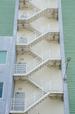 Fire exit escape stairs on old office building Stock Image