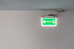 Fire exit light sign Royalty Free Stock Photos