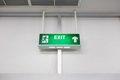 Fire exit light sign Stock Images