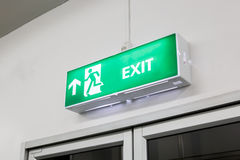 Fire exit light sign Royalty Free Stock Photography