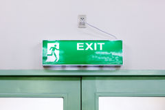 Fire exit light sign Stock Photos