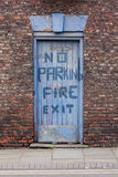 Fire exit. And no parking Stock Photo