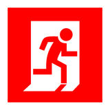 Fire exit. Red vector sign Royalty Free Stock Images