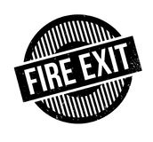 Fire Exit rubber stamp. Grunge design with dust scratches. Effects can be easily removed for a clean, crisp look. Color is easily changed Stock Image