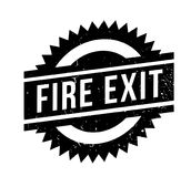 Fire Exit rubber stamp. Grunge design with dust scratches. Effects can be easily removed for a clean, crisp look. Color is easily changed Stock Photos