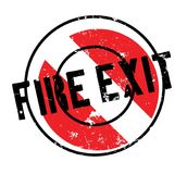 Fire Exit rubber stamp Stock Photo