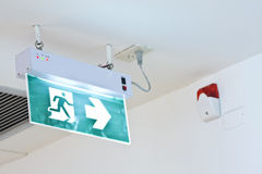 Fire exit sign Stock Images