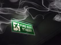Fire exit. Sign royalty free stock photography