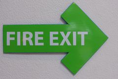 Fire exit sign royalty free stock image