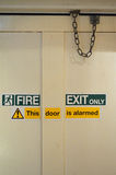 Fire exit sign. Royalty Free Stock Photo