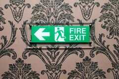 Fire exit sign Royalty Free Stock Images