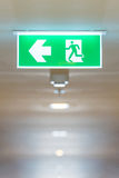 Fire exit sign in high rise building Royalty Free Stock Photo