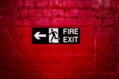 Fire exit. Stock Images