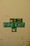 Fire exit sign. Royalty Free Stock Image