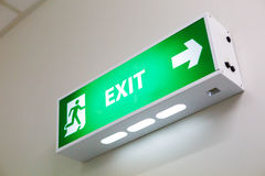 Fire exit sign Royalty Free Stock Photography