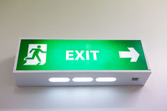 Fire exit sign Stock Photography