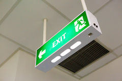 Fire exit sign Royalty Free Stock Photos