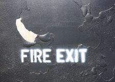 Fire Exit lettering Stock Photography