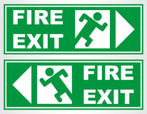Fire exit sign. Vector illustration Royalty Free Stock Images