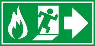 Fire exit sign. Vector illustration Royalty Free Stock Image