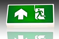 Fire exit signs. Stock Photo