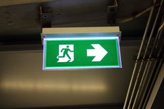 Fire exit signs Stock Image