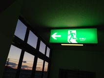 Fire exit. Signs Stock Photos