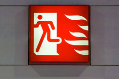Fire exit signs Royalty Free Stock Image