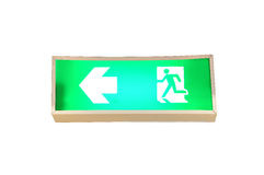 Fire exit signs. Isolate on white background Stock Photography