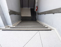 Fire exit staircase of the office building. Stock Image