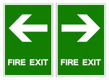 Fire Exit Symbol Sign ,Vector Illustration, Isolate On White Background Label .EPS10 royalty free illustration