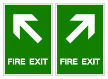 Fire Exit Symbol Sign ,Vector Illustration, Isolate On White Background Label .EPS10 stock illustration