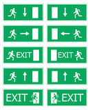 Fire exit. Vector illustration Stock Images