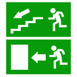 Fire exit. Vector illustration Stock Image