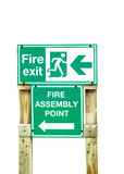 Fire exit wood sign Stock Images