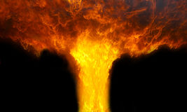 Fire explosion Royalty Free Stock Photography