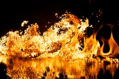 Fire explosion Royalty Free Stock Images