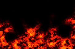 Fire explosion Stock Image