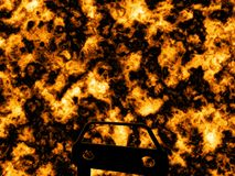 Fire explosion Stock Images