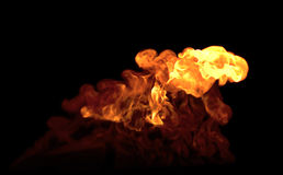 Fire explosion. On black background Royalty Free Stock Image