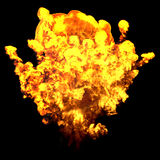Fire Explosion on black. Background Royalty Free Stock Images