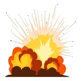 Fire explosion icon, cartoon style. Fire explosion icon. Cartoon illustration of fire explosion vector icon for web Royalty Free Stock Photography
