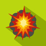 Fire explosion icon, flat style. Fire explosion icon. Flat illustration of fire explosion vector icon for web Stock Photo