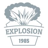 Fire explosion logo, simple gray style. Fire explosion logo. Simple illustration of fire explosion vector logo for web Stock Image